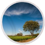 Beautiful Day Round Beach Towel by Davorin Mance
