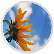Beautiful Day Round Beach Towel