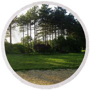 Round Beach Towel featuring the photograph Beautiful Earth by Verana Stark