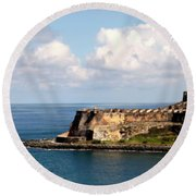 Beautiful El Morro Round Beach Towel