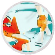 Round Beach Towel featuring the photograph Fixed Wing Aircraft Pop Art by R Muirhead Art