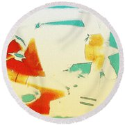 Round Beach Towel featuring the photograph Fixed Wing Aircraft Poster by R Muirhead Art