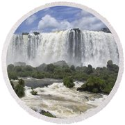 Beautiful Iguazu Waterfalls  Round Beach Towel