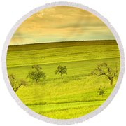 Beautiful Landscape In The Spring Round Beach Towel