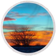 Beautiful Mornin' Panorama Round Beach Towel by Bonfire Photography