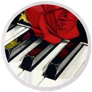 Beautiful Music Round Beach Towel