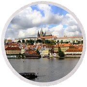 Round Beach Towel featuring the photograph Beautiful Prague by Ira Shander