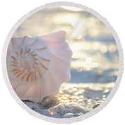 Beautiful Soul Round Beach Towel
