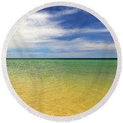 Beautiful St George Island Water Round Beach Towel