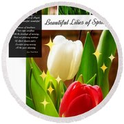 Beautiful Tulip Series 1 Round Beach Towel