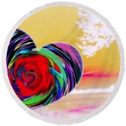 Beautiful Views Exist Round Beach Towel by Catherine Lott