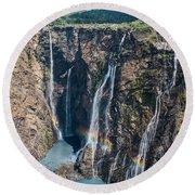 Beautiful Waterfalls In India Round Beach Towel