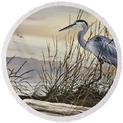 Beauty Along The Shore Round Beach Towel