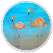 Beauty And Grace Round Beach Towel