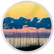 Beauty And The Birds Round Beach Towel by Mary Ward