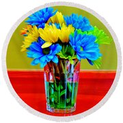 Beauty In A Vase Round Beach Towel