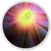 Beauty Lies Within Round Beach Towel