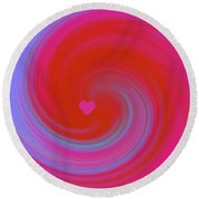Beauty Marks Round Beach Towel by Catherine Lott