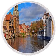 Beauty Of Belgium Round Beach Towel