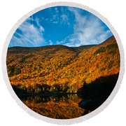 Beaver Pond White Mountain National Forest Round Beach Towel