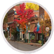 Beaver St  Sewickley Round Beach Towel