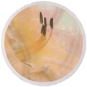 Round Beach Towel featuring the photograph Becoming by Betty LaRue