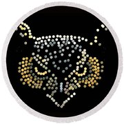 Bedazzled Owl Round Beach Towel