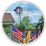 Bedford Village Pennsylvania Round Beach Towel
