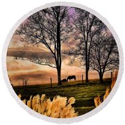 Bedtime Snackin Round Beach Towel by Robert McCubbin