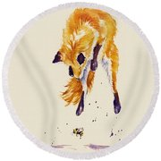 Bee Brave Round Beach Towel