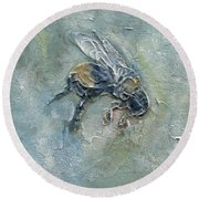Bee Bumble Round Beach Towel by Phyllis Howard