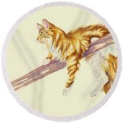 Bee Determined Round Beach Towel