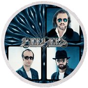 Bee Gees I Round Beach Towel