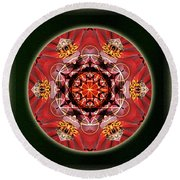 Bee Green Round Beach Towel