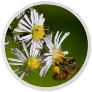 Bee Harvest Round Beach Towel