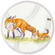Bee-loved Round Beach Towel
