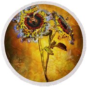 Bees To Honey Round Beach Towel