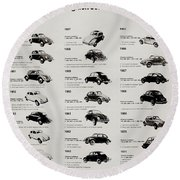 Round Beach Towel featuring the photograph Beetle Evolution by Benjamin Yeager