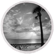 Before Sunset Round Beach Towel