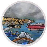 Before The Storm Round Beach Towel by Barbara St Jean