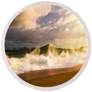 Round Beach Towel featuring the photograph Before The Storm by Eti Reid