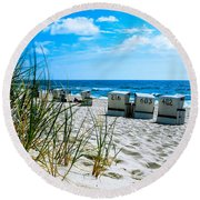 Behind The Dunes -light Round Beach Towel
