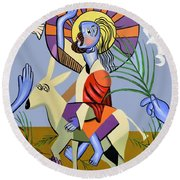 Behold The Lamb Of God Round Beach Towel