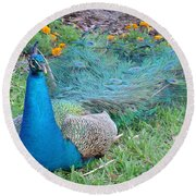 Round Beach Towel featuring the photograph Bejeweled  by David Nicholls