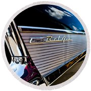 Round Beach Towel featuring the photograph Bel Air Reflections by Joann Copeland-Paul