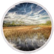 Believe  Round Beach Towel by Patricia Greer