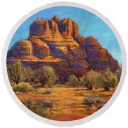 Bell Rock, Sedona Arizona Round Beach Towel
