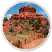 Bell Rock - Sedona Round Beach Towel by Dany Lison