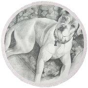Bella My Pup Round Beach Towel