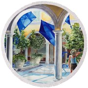 Bellagio Kite Flight Round Beach Towel